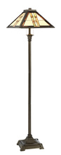 Lite Source Inc. C61398 - Floor Lamp - Dark Bronze/tiffany Shade, E27 Type A 60wx2