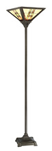 Lite Source Inc. C61399 - Torch Lamp - Dark Bronze/tiffany Shade, E27 Type A 100w