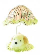 Lite Source Inc. IK-6090YLW - Table Lamp - Yellow Dog/Striped Fabric Shade, E27 Type B 40W