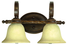 Craftmade 8118AG2 - Riata 2 Light Vanity in Aged Bronze Textured