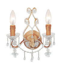 Crystorama 4522-CM-CLEAR - Paris Market 2 Light Clear Crystal Champagne Sconce