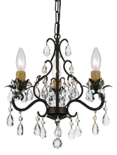 Crystorama 4534-EB - Paris Market 3 Light Mini-Chandelier