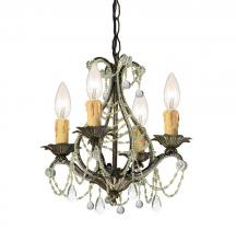 Crystorama 4714-BI-CL-MWP - Crystorama Paris Market 4 Light Birch Mini Chandelier II