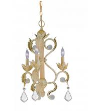 Crystorama 6603-CM-CL-SAQ - Wrought Iron Hanging W15.5 H21.5 3-60W Candle Q2
