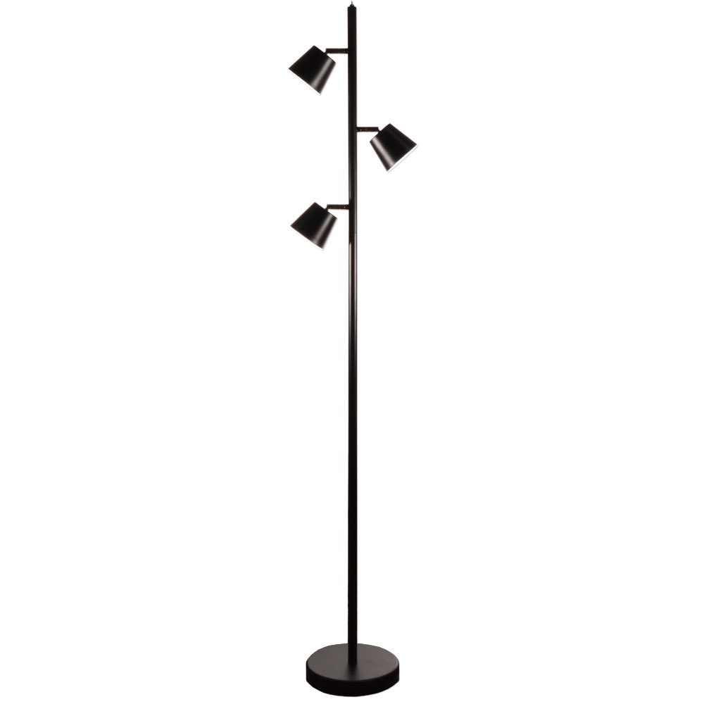 3LT LED Floor Lamp, BK