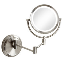 Dainolite LEDMIR-1W-SC - Swing Arm LED Lighted Magnifier Mirror