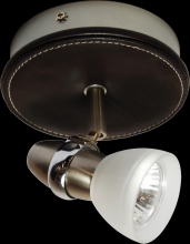 Omotec Canada 104FM01BS-FR - One Light Nickel Directional Flush Mount