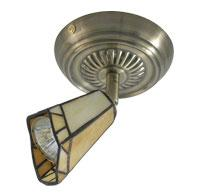 Omotec Canada 111FM01AB-BG - One Light Brass Directional Flush Mount
