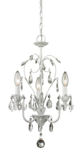 Z-Lite 417MW - 3 Light Mini Chandelier