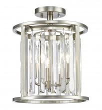 Z-Lite 439SF12-BN - 3 Light Semi Flush Mount