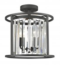 Z-Lite 439SF14-BRZ - 3 Light Semi Flush Mount