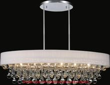 CWI Lighting 5422P30C-O (Black) - 6 Light Drum Shade Chandelier with Chrome finish