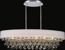 CWI Lighting 5422P30C-O (White) - 6 Light Drum Shade Chandelier with Chrome finish
