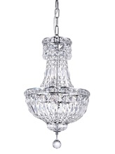 CWI Lighting 8003P12C - 4 Light Mini Chandelier with Chrome finish