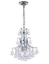 CWI Lighting 8012P12C - 3 Light Mini Chandelier with Chrome finish