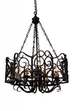 CWI Lighting 9888P25-8-122 - 8 Light Up Chandelier with Autumn Bronze finish