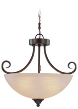 Jeremiah 25333-OB - Raleigh 3 Light Convertible Semi Flush/Pendant in Old Bronze