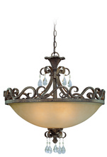 Jeremiah 25634-FR - Englewood 4 Light Convertible Semi Flush/Pendant in French Roast
