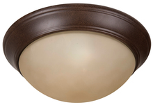 "Jeremiah XPP13AG-2A - Pro Builder Premium 2 Light 13"" Flushmount in Aged Bronze Textured"