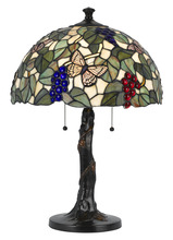 "CAL Lighting BO-2312TB - 23.25"" Height Resin Table Lamp In Tiffany"