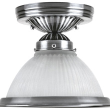 Canarm ICHANC7113 - Halophane, ICHANC71 ORB, 1 Lt Chandelier, Frosted Halophane Glass, 60W Type A