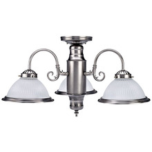 Canarm ICHANC7351 - Halophane, ICHANC73 BPT, 3 Light Chandelier, Frosted Halophane Glass, 60W Type A
