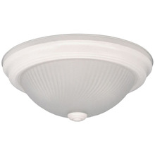 "Canarm IFM21111N - Fmount, IFM211 WH, 11"" 2 Bulb Flushmount, Frosted Swirl Glass, 40W Type A"