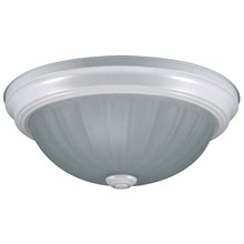 "Canarm IFM31311N - Fmount, IFM31311N WH, 13"" 2 Bulb Flushmount, Melon Glass, 60W Type A, Low Profile Design"