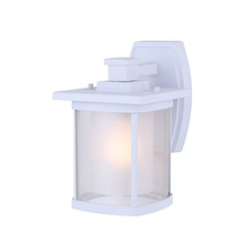 "Canarm IOL236WH - Outdoor, IOL236WH, 1 Light Outdoor Down Light, Seeded/Frost Glass, 100W Type A, 6 1/2""W x 10 1/4"