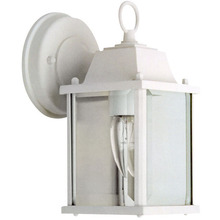 Canarm IOL311 - Outdoor, IOL3 WH, 1 Bulb Downlight, Clear Bevelled Glass, 100W Type A or B