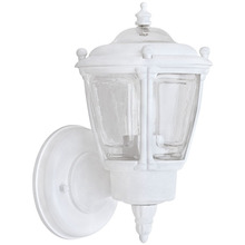 Canarm IOL711 - Outdoor, IOL7 WH, 1 Bulb Uplight, Clear Glass, 60W Type A or B