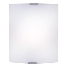 "Canarm IWL415B07GY - IWL415B07GY, 1 Lt Wall Sconce, Flat Opal Glass, 60W Type A, Hardwire Connection, 7"" W x 8 1/4&#3"