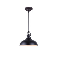 "Canarm LPL103A01BK - Sussex, LPL103A01BK, 1 Lt Rod Pendant, 12W LED, Dimmable, 840 Lumens, 12"" x 12 3/4-60 3/4"""
