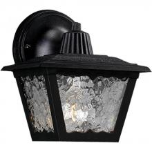 Progress P5818-31 - One Light Black Textured Acrylic Glass Wall Lantern