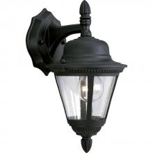 Progress P5862-31 - One Light Clear Seeded Glass Textured Black Wall Lantern