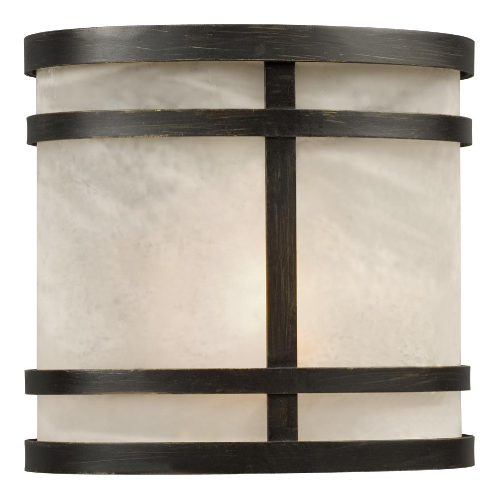 Outdoor Wall Fixture - Oil Rubbed Bronze w/ Marbled Glass