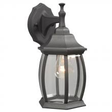 Galaxy Lighting 301090 BLK - Outdoor Cast Aluminum Lantern - Black w/ Clear Beveled Glass
