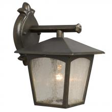Galaxy Lighting 302620ORB - Outdoor Cast Aluminum Lantern - Oiled Rubbed Bronze w/ Clear Seeded Linen Glass