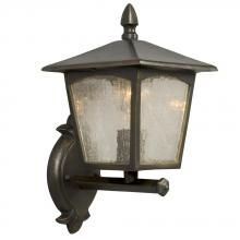 Galaxy Lighting 302621ORB - Outdoor Cast Aluminum Lantern - Oiled Rubbed Bronze w/ Clear Seeded Linen Glass