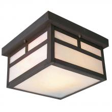 Galaxy Lighting 306120OBZ - Outdoor Ceiling Fixture - Old Bronze w/ White Marbled Glass
