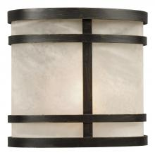 Galaxy Lighting 310760ORB - Outdoor Wall Fixture - Oil Rubbed Bronze w/ Marbled Glass