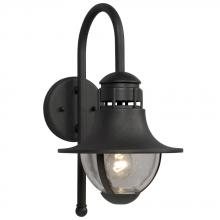 Galaxy Lighting 311870BK - Outdoor Cast Aluminum Lantern - Black W/ Clear Seeded Glass