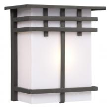 Galaxy Lighting 312490ORB - Outdoor Wall Fixture - Oil Rubbed Bronze with White Acrylic Lens