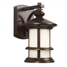 Galaxy Lighting 319930BZ - Outdoor Wall Mount Lantern - In Bronze Finish With Ivory Art Glass