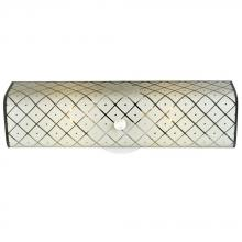 Galaxy Lighting 600618 - Vanity Light - U-Channel With White Patterned Glass