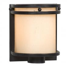 Galaxy Lighting 700921CBK - Single Light Vanity - Charcoal Black w/ Light Mocha Seeded Glass