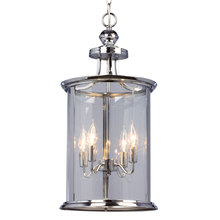 Galaxy Lighting 912300CH - Pendant Fixture with Clear Glass Shade