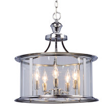 Galaxy Lighting 912301CH - Pendant Fixture with Clear Glass Shade