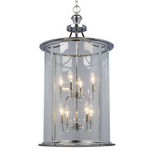 Galaxy Lighting 912302CH - Pendant Fixture with Clear Glass Shade