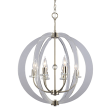 Galaxy Lighting 922755BN - Pendant Fixture with Thick Panes of Clear Acrylic